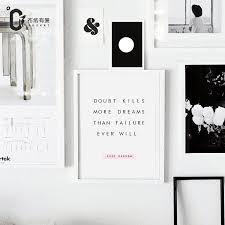 Prints For Home Decor Aliexpress Com Buy Doubt Kills Dreams Motivational Poster Quote