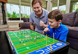 electronic table football game nfl deluxe electric football game sharper image