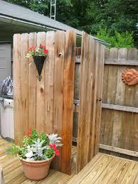 pallets made outdoor bathing shower ideas pallet ideas recycled pallets made outdoor bathing shower ideas