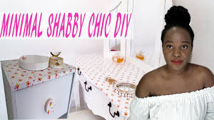 diy cheap shabby chic makeup vanity u0026 bedside table 2017 youtube