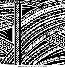 maori style sleeve tribal design stock vector 601153778