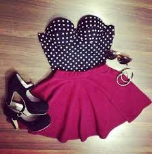 dress skirt pink pink skirt black polka dots white brown