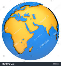 Earth Globe Map World by Earth Globe Map Side Africa Europe Stock Illustration 98885774