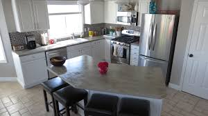 Paint For Kitchen Countertops Diy Idea Concrete Kitchen Counters U2013 Thenestbook Com