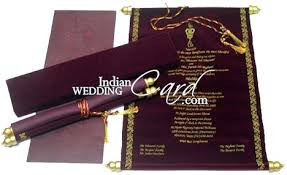 indian wedding scroll invitations wedding scroll invitation simplo co