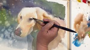 watercolor painting of a dog named rosie youtube