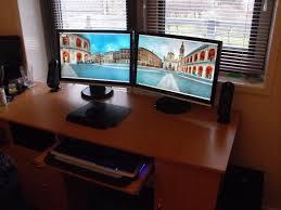 best corner desk for 3 monitors 50 corner computer desk for two monitors best paint for wood