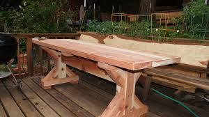 Ana White Farmhouse Table Bench Ana White First Try Picnic Table Diy Projects