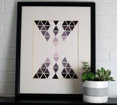 how to make geometric wall art using paint chips