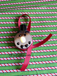 snowman christmas ornament easy diy