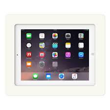 How To Mount Ipad To Wall White Ipad 2 3 4 Vidamount On Wall Tablet Mount