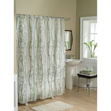 curtain creates a glittering atmosphere for your bathroom with