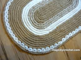 Crochet Doormat Oval Braided Rug Braided Doormat 2x3 Ft Rug Colors Blend Rug