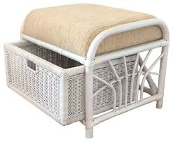 rattan ottoman storage jerry tropical footstools and ottomans