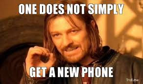 New Phone Meme - running shoes and other activities to keep me busy during break