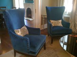 Nailhead Accent Chair Furniture Interior Living Room Classic Navy Blue Nailhead