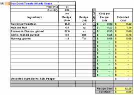 Excel Costing Template Restaurant Inventory Recipe Costing Menu Profitability Workbook
