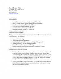Biology Resume Cover Letter Marine Resume Examples Marine Resume Examples Marine