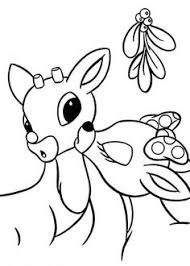 rudolph red nosed reindeer coloring picture christmas