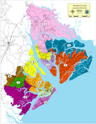 map of beaufort county sc council members