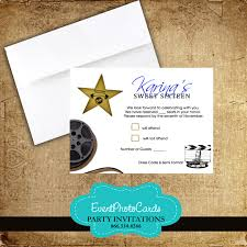 Party Invitations With Rsvp Cards Awards Matching Rsvp Card