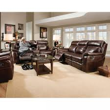 Brown Leather Recliner Sofa Set Lowery Living Room Reclining Sofa Reclining Loveseat Ms862
