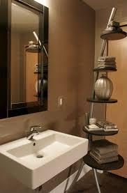 modern powder room with wall mounted sink by kimberlee jaynes