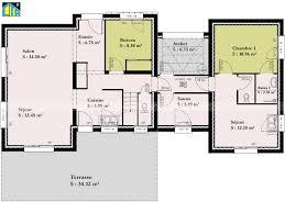 plan de maison plain pied 3 chambres plan maison plain pied 3 chambres 1 bureau awesome plan maison