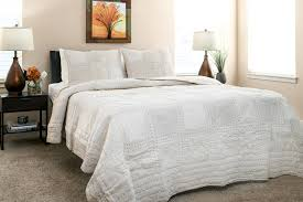 stylish quilts beige color block pattern quilt handmade 100