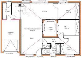 plan maison contemporaine plain pied 4 chambres plan maison plain pied 3 chambres 1 bureau d une maison basse de