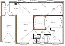 plan villa plain pied 4 chambres plan maison gratuit plain pied 3 chambres plan maison plain pied