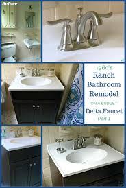 1960 u0027s ranch bathroom remodel delta linden lavatory faucet