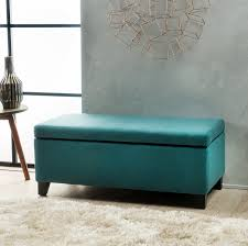 amazon com atlantic dark teal fabric storage ottoman kitchen