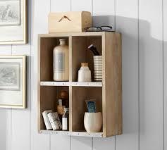rustic bathroom storage cabinets rustic bath storage cubbies pottery barn