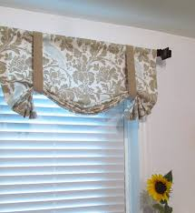 Tie Up Curtains Tie Up Lined Valance Barber Taupe Robin Custom Sizing Available