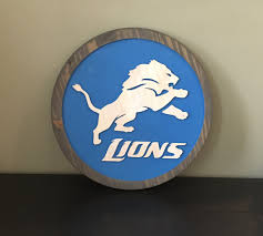 Detroit Lions Home Decor by Motor City Wood Carving U2014 Home