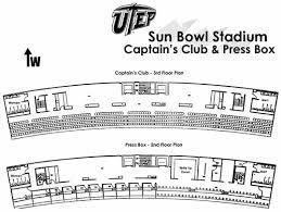 stadium floor plans sun bowl floor plans