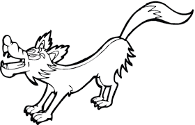 coloring page of wolf cartoon wolf coloring page free printable coloring pages