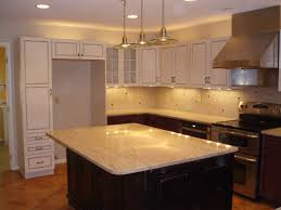 interior design classic chandelier with granite countertop and