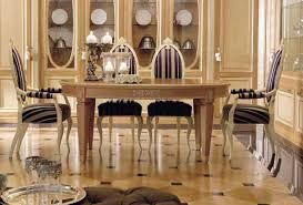 traditional dining table wooden round venice martini mobili