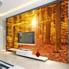 3d gold autumn leaves photo wall mural washable wallpaper home