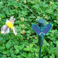 Hummingbird Garden Decor Useful Vibration Solar Power Dancing Flying Fluttering Butterflies