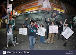 new york usa 25th april 2016 anti police brutality activists