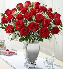 Long Stem Flowers Premium Long Stem Red Roses In Silver Vase Sun Tropical Flower Shop