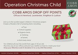 operation christmas child cobb amos estate agents