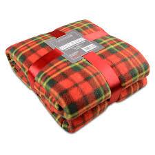 Orange Sofa Throw Soft Warm Red Check Blanket Single Double King Tartan Sofa Throw