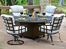 Propane Fire Pit Patio Sets Dining Table Outdoor Dining Table With Propane Fire Pit Height
