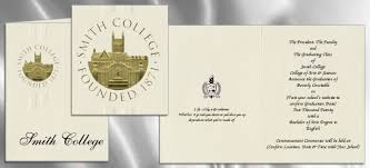 graduation announcement college commencement invitations smith college graduation