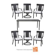 Hampton Bay Patio Furniture Touch Up Paint by Hampton Bay Oak Heights 7 Piece Metal Outdoor Patio Dining Set