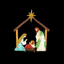 home accents holiday 66 in led lighted tinsel nativity scene